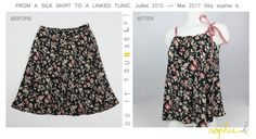 � by sophie b. Spring / Summer 17: TUTO PAS A PAS PHOTOS: Recyclage d'une jupe en top // D.I.Y. Recycling a skirt into a top.