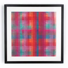 Obraz Graham & Brown Neon Pixel, 50x50 cm