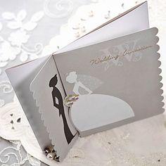 Scalloped Edge Bride & Groom Wedding Invitation #invitations