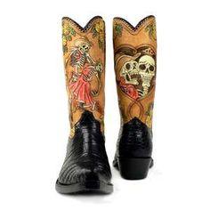 Dia De Los Muertos boots