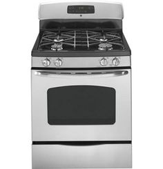 30 in. Gas Range with Self-Cleaning Oven in Stainless Steel (Silver) Kitchen Stove, Kitchen Appliances, Stainless Steel Gas Stove, Self Cleaning Ovens, Cooking Spaghetti, Housekeeping Tips, Oven Range, Country Cooking, Cooking Turkey