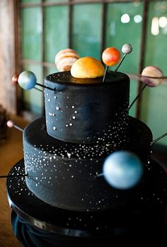 Outer-space party ideas | 100 Layer Cakelet #space #birthday #cake