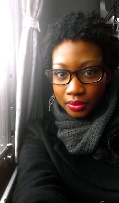 Hair, glasses, scarf... love this whole look!  Natural Hair - Short Curly Afro