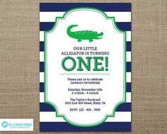15 best alligator birthday party images on pinterest alligator this listing is for a digital printable file of this 5 x 7 alligator birthday invitation filmwisefo