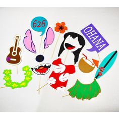 Lilo and Stitch party props , photobooth stitch 15 pc**