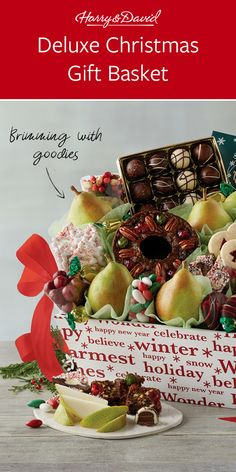 This is a great gift for friends, family, and coworkers! Along with holiday Royal Riviera® Pears, this perfect Christmas gift basket includes chocolate truffles, peppermint bark and Moose Munch® Popcorn along with holiday baked goods. Christmas Gift Baskets, Perfect Christmas Gifts, Holiday Gifts, Friends Family, Gifts For Friends, Moose Munch, Eat Happy, White Cheddar Cheese, Peppermint Bark