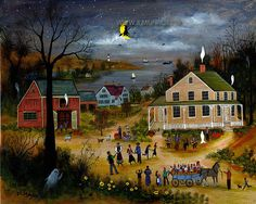 Halloween by capecodfolkart on Etsy, $45.00