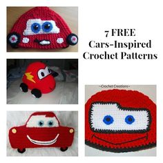 7 FREE Cars-Inspired Crochet Patterns