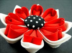Kanzashi Fabric Flower Tutorial PDF ... 2 Double Petal Versions ... No Machine Sewing ... New