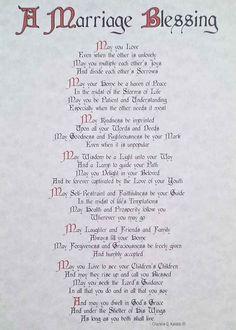 Irish wedding blessing lyrics