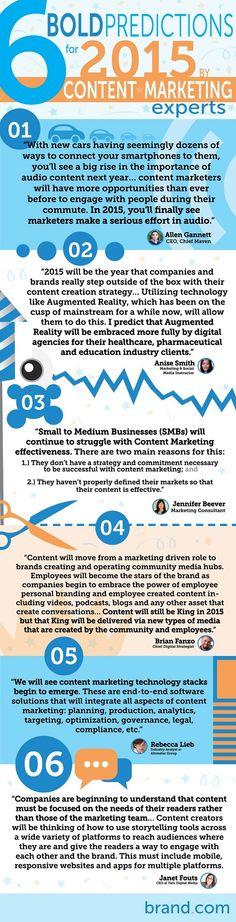 #ContentMarketing predictions for brands in 2015 via @Brand.com
