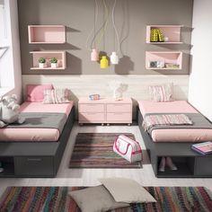 dormitorio doble - Catálogo UP16 www.exojo.com #junior #room #dormitorio #juvenil #mueble #grupoexojo #up16