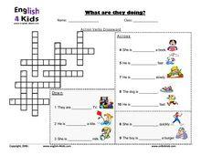 ESL Kids Worksheets Present Progressive Action Verbs Worksheets