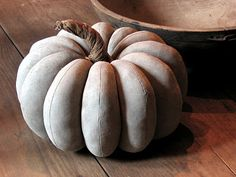 Large grey fabric pumpkin Today really felt like the end of Fall. For the past few months we've been in that transitional stage where we. Halloween Doll, Fall Halloween, Fall Home Decor, Autumn Home, Grey Pumpkin, Primitive Pumpkin, Primitive Decor, Fabric Pumpkins, Velvet Pumpkins