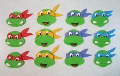 Ninja Turtle Cupcake/Cookie Toppers 2 Dozen by sweetenyourday