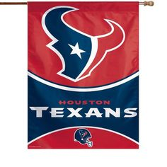 """Houston Texans WinCraft 27"""" x 37"""" Single-Sided Vertical Banner Flag - $24.99"""