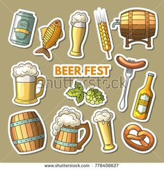 set of different colored beer icons