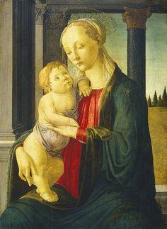 Sandro Botticelli - Madonna and Child, c. 1470 National Gallery of Art , Washington, DC, USA Botticelli Paintings, Art Gallery, Painting, Botticelli, National Gallery Of Art, Art, Madonna And Child, Sacred Art, Italian Artist