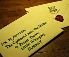 Custom Harry Potter Handwritten Hogwarts by DarkArtsWitchCraft, $20.00