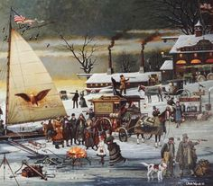 Ice Riders On Chesapeake Bay