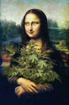 Medical Marijuana, Lisa Gherardini, Mona Lisa Parody, Mona Lisa Smile, Weed Humor, Weed Art, Weed, Psychedelic Art, Artists