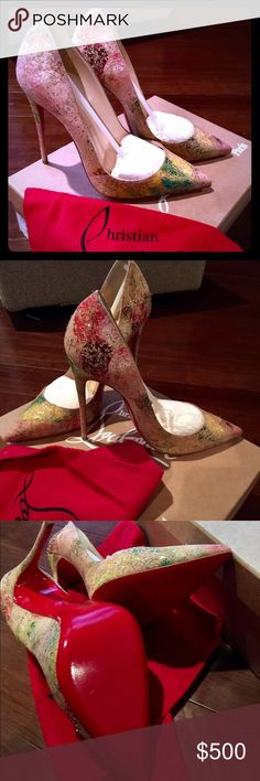 So Kate 120 Cork Blooming Louboutins Size 38 brand new never worn priced to sell. Box bag and tips included. Reasonable offers through 🅿️🅿️ and Ⓜ️erc accepted Christian Louboutin Shoes Heels