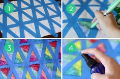 HOW TO: Make DIY Colorful Geometric Textiles with Sharpies & Rubbing Alcohol (thanks, @Kristin Appenbrink)