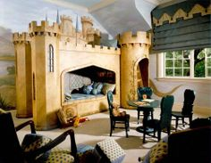 Castle Bed - Traditional - Kids - san francisco - by Chelsea Court Designs Bedroom Themes, Girls Bedroom, Bedroom Ideas, Bedrooms, Bedroom Decor, Chelsea Court, Medieval Bedroom, Castle Bedroom, Castle Wall