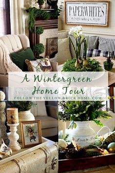 decorating with greenery for winter Beautiful winter home tour with greenery Source by afergusondecor Decor christmas Winter Home Decor, Winter House, Diy Home Decor, After Christmas, Christmas Home, Christmas Decor, Cottage Christmas, Faux Fireplace Mantels, Design Loft