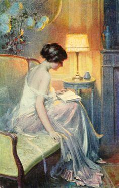 Le roman d'amour Reading by the fire La lettre Femme lisant près de la fenêtre The...