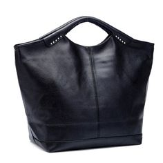 51aef8b415a Wholesale Casual Black and PU Leather Design Tote Bag For Women Only $8.18 Drop  Shipping