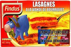 Retrouver la queue du cheval dans les lasagnes. Ici, l'âne présent dans le dessin animé Winnie l'Ourson fait un clin d'œil aux cadeaux pour enfants que placent certaines marques dans leurs produits.