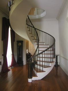 Staircase of Auburn in Natchez, MS