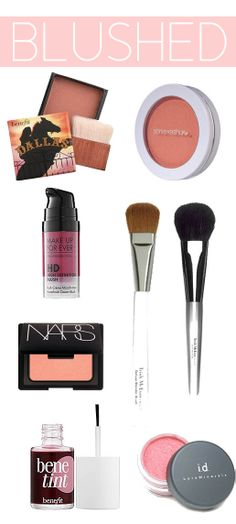 Favorite blush products and tools...