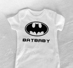 Custom Baby Onesie/ Bodysuit Batman BatBaby  Onesie Girl or Boy on Etsy, $20.00