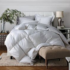 thecompanystore.com legends- geneva goose down comforter $369 light warmth king size