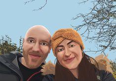 #illustration #digitalart #digitalillustration #wacomtablet #wacom #wacomintuos #coupleshoot #drawing #drawingideas #art Digital Illustration, Digital Art, Winter Hats, Drawing, Couples, Fashion, Illustrations, Moda, Fashion Styles