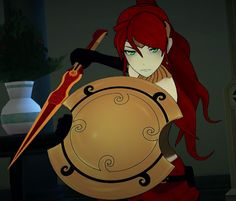 Look at Pyrrha's resolve. Pyrrha was a warrior. Team Jnpr, Team Rwby, Rwby Jaune, Rwby Pyrrha, Pyrrha Nikos, Rwby Bumblebee, Red Like Roses, Anime Group, Show Me The Way
