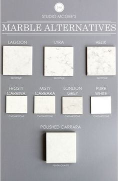 Marble Countertop Alternatives: Lagoon Silestone. Lyra Silestone. Helix…