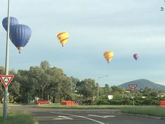 Balloons over Tuggeranong.