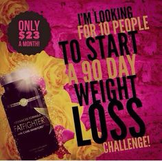 The holiday season is just right around the corner and we all know what that means. Food, food, food! We all gain weight during this time and then comes the New Year resolutions to take it off. How about not gaining the weight? I'm looking for 5 people to try our fat fighters for just $23! Your name will also be entered to win a free wrap with your order! Message or call 317-534-7802!
