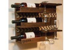Rustik vinreol til det lille køkken