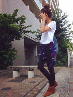 ZARAのTシャツ・カットソーを使ったkayoさんのコーディネートです。│まったり過ごす土曜日。夕飯は何...