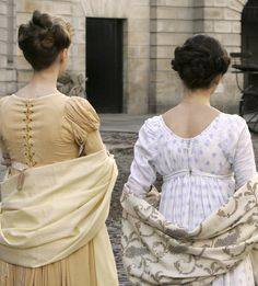 Image uploaded by Jess . Find images and videos about dresses, jane austen and northanger abbey on We Heart It - the app to get lost in what you love. Regency Dress, Regency Era, Era Georgiana, Little Dorrit, Jane Austen Novels, Jane Austen Northanger Abbey, The Great Comet, Elizabeth Bennet, Felicity Jones
