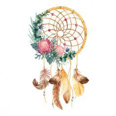 Watercolor dreamcatcher with flowers , Watercolor Flower Background, Watercolor Wallpaper, Watercolor Rose, Lotus Kunst, Lotus Art, Vintage Floral Backgrounds, Flower Backgrounds, Whale Illustration, Watercolor Dreamcatcher