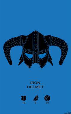 Skyrim Iron Helmet by Emma Shea