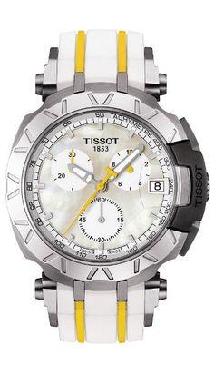 Tissot Watch T-Race Cycling Tour De France Lady Watch Gents Watches, Sport Watches, Cool Watches, Watches For Men, Tissot T Race, Le Locle, Watch 2, Mellow Yellow, Watch Brands