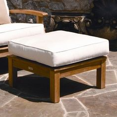 Pin it! :) Follow us :)) zPatioFurniture.com is your Patio Furniture Gallery ;) CLICK IMAGE TWICE for Pricing and Info :) SEE A LARGER SELECTION of  patio ottoman  at http://zpatiofurniture.com/category/patio-furniture-categories/patio-ottoman/-  home,patio, home decor, patio ottoman  -  Luxe Ottoman –Monterey Ottoman with Cushion Fabric: Cocoa « zPatioFurniture.com