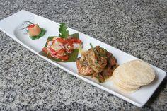 Gravlax de Trucha, Ceviche y Salpicón