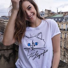 "45.4k Likes, 275 Comments - KARL LAGERFELD (@karllagerfeld) on Instagram: ""The ultimate level of cuteness! @realbarbarapalvin and Choupette! 😍 Grab your tee-shirt by clicking…"""